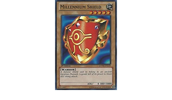 Amazon.com: Yu-Gi-Oh! - Millennium Shield (LCYW-EN159 ...