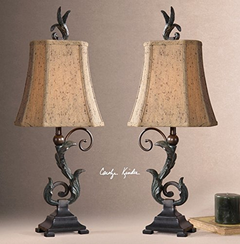 Uttermost Caperana Black Buffet Lamps Set/2 ..(from#_vaasuhomes_152322168957239 by Jonyandwater