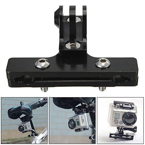 Hiquty Bicycle Bike Saddle Rail Mount Holder Adapter For Gopro Hero 2 3 3 Plus 4 (Mallet Puff)