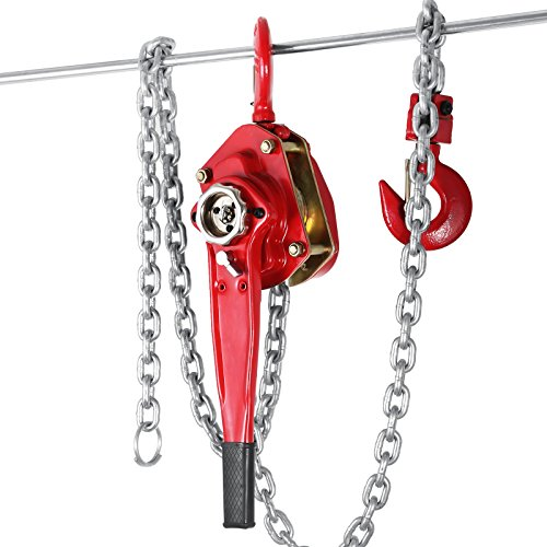 LOVSHARE 3 Ton 6614 LBS Ratchet Lever Hoist Max 4.5 Ton Lever Block Chain Hoist Come Along Ratchet Lift Latch Hooks Pulley Winch Lift With 9.8 FT Chain (3T 9.8FT) Ton Ratchet Lever Hoist