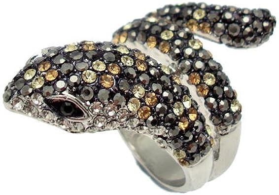Acosta – Cristal Swarovski – Bague serpent – Taille : Large/lettre ...