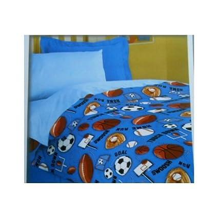 Amazoncom Kids Sports Twin Comforter Bedding Baseball Football