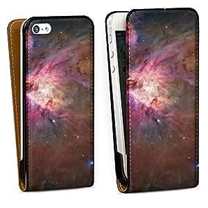 Diseño para Apple iPhone 5 DesignTasche Downflip black - Orion Nebel