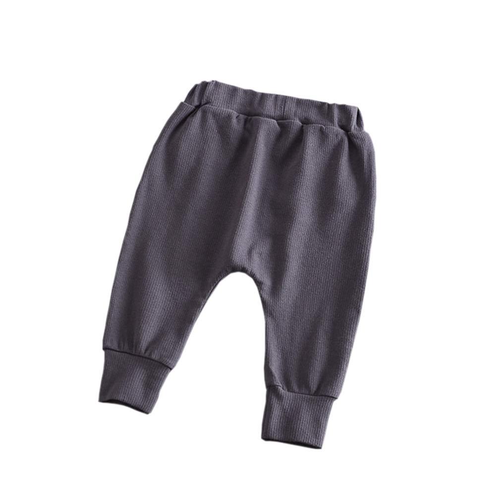 Hwafan Unisex Toddler Kids Elastic Waist Harem Pants Baby Casual Sport Jogger Pants