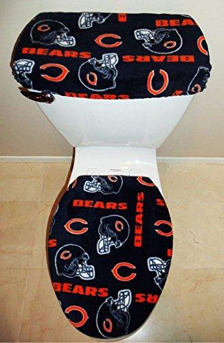 NFL CHICAGO BEARS Fleece Fabric Toilet Seat Cover Set Bathroom Accessories