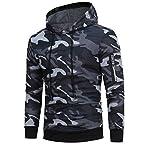 manadlian Veste Homme,Sweats à Capuche Hommes Camouflage Hoodie Sweat à Capuche Tops Veste Manteau Outwear À Manches… 8
