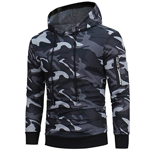 manadlian Veste Homme,Sweats à Capuche Hommes Camouflage Hoodie Sweat à Capuche Tops Veste Manteau Outwear À Manches… 3