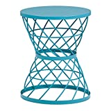 Simpli Home Rodney Metal Accent Table, Turquoise