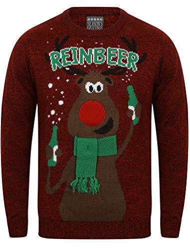 Rouge Pull Greetings noir Reinbeer Noel Sweater Twist De Seasons nYS4vxqfAq