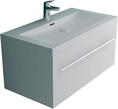 Alpenberger Garda Bathroom Furniture Sink Solid Cast Mineral Including Basin Cabinet With Softclose Function White High Gloss Design Bathroom Furniture Sets Extra For Your Perfect Bathroom Amazon Co Uk Diy Tools