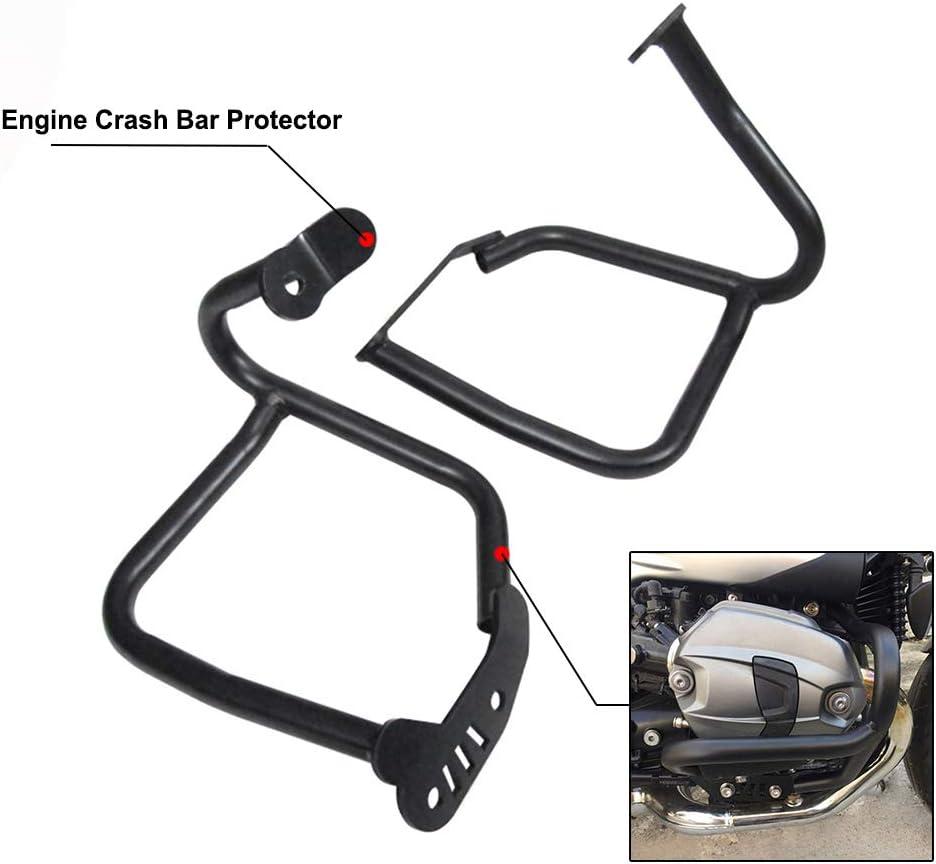 Motorcycle Crash Bars Engine Guards Bumper Protector Frame Protection For BMW R1200 R NINE T 2014-2018 Black