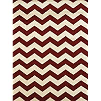 United Weavers of America Visions Chevron Rug, 53 x 72, Red