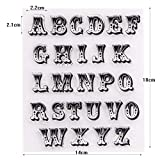 YULEKITO Delicate Capital Letters Clear Stamps for