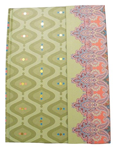 Binder Embellishments (Carolina Pad Studio C Journal with Magnetic Closure and Foil Embellishments ~ Taj Mahal (Greens and More; 6.25