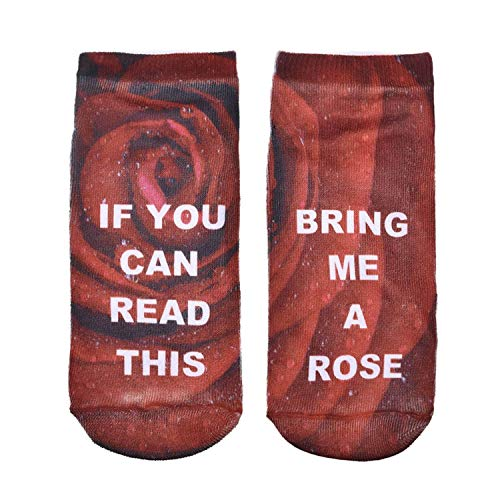 (1 Pair IF YOU CAN READ THIS Socks Women Funny White Low Cut Ankle Socks 2017 Hot BRING ME A WINE Wholesale)