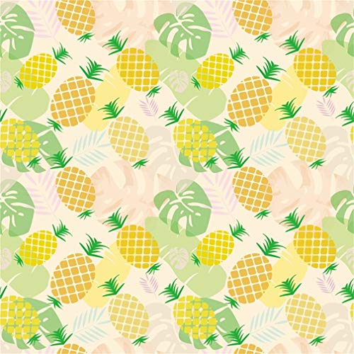 Leyiyi 10x10ft Pineapples Summer Party Backdrop Kids Happy Birthday Hawaiian Luau Web Celebrity Tropical Fresh Fruits Watercolor Banner Photo Background B Day Baby Shower Portrait Studio Vinyl Prop