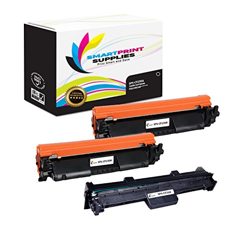 Smart Print Supplies CF230A with CHIP & CF232A Combo Compatible 30A Toner Cartridge and 32A Drum Unit Replacement for HP Laserjet Pro M203 MFP M227 Printers ()