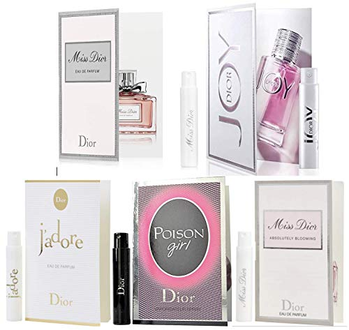 (Golden Mermaid's Choice: 5 dior perfume samples collection (Miss Dior, J'adore, Poison Girl, Joy, Absolutely Blooming))