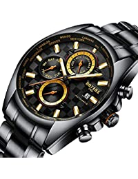 Men Automatic Mechanical Watch Luminous Luxury Brand Leather Business Fashion Casual Waterproof Stainless Steel...