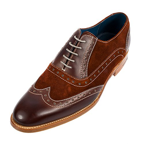Barker Men's Grant Leather/Nubuck Brogue Shoe (3372FW12)