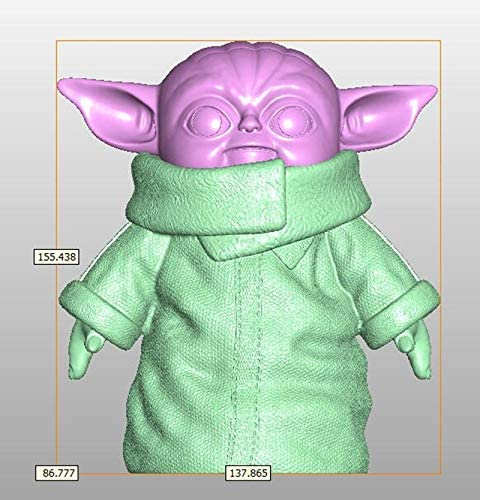 Maikoa PVC The Child Yoda Toy Baby Yoda Plush Toys 6 inch 1pcs