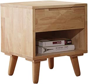 QERNTPEY Bedside Table Cabinets Environmental Solid Wood Logs Primary and Secondary Bedroom Bedside Table Bedroom Furniture Storage Cabinet Unique Home Decoration (Color : Wood, Size : 40x45x50cm)