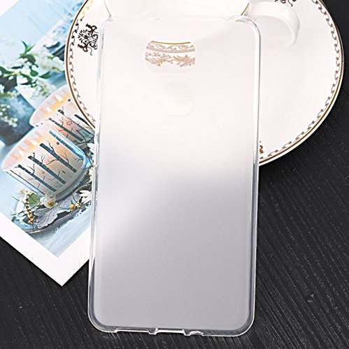 PREVOA Funda para BQ Aquaris V Plus / VS Plus - Colorful Silicona TPU Funda Case para BQ Aquaris V Plus / VS Plus Smartphone - 6 Blanco