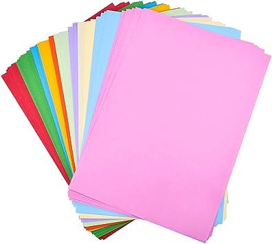 Amazon Com Isuperb 200 Hojas De Papel De Colores A4 Papel De Construcción Papel Plegable Hecho A Mano Papel De Origami Para Manualidades Papel De Copia A Color Adecuado Para Varias Impresoras