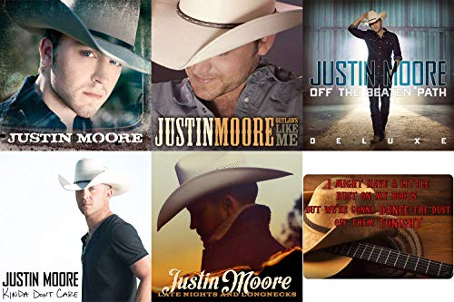 Justin Moore: Complete 5 Studio Albums CD Collection with Bonus Art Card (Late Nights and Longnecks / Kinda Don't Care and More) (Justin Moore Off The Beaten Path Tour)
