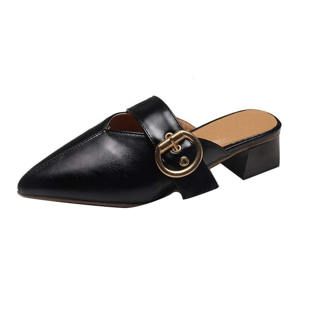 YUCH YUCH Sandales Et Pantoufles pour Femmes Bout Pantoufles 17494 Pointu Travail Chaussures Paresseux Black 615f8cf - shopssong.space