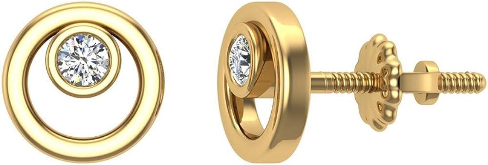 Diamond Earrings Circle...