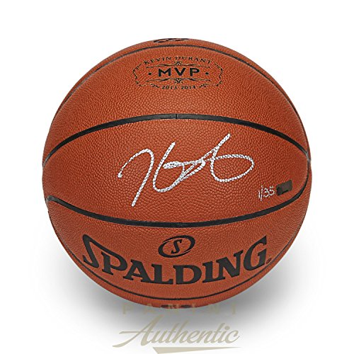 Kevin Durant Autographed in Silver 2013-14 MVP Stamped Replica Basketball ~Limited Edition to 35~ Panini Authentic
