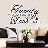 Best Wall Stickers For Bedroom Vinyls - FlyWallD Family Quotes Wall Decal Bedroom Love Saying Review