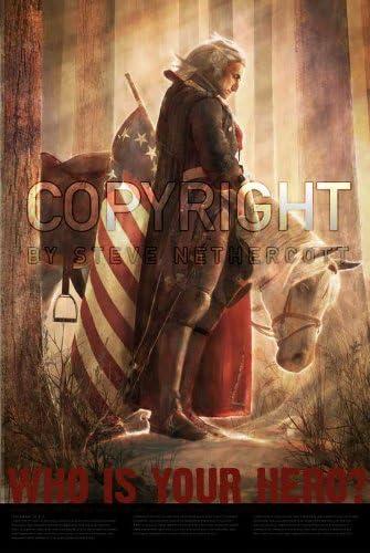Framed George Washington Portrait US President Art Poster 47 36 24 16 Inches