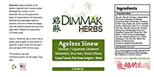 Ageless Sinew Liniment by Dimmak Herbs   Tendon and Ligament Healing   Sinew Herbal Formula   Spray Mist System – 2oz