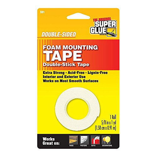 Epoxy Double Sided (5/8 in. x 36 in. Double-Sided Foam Mounting Tape (12-Pack))