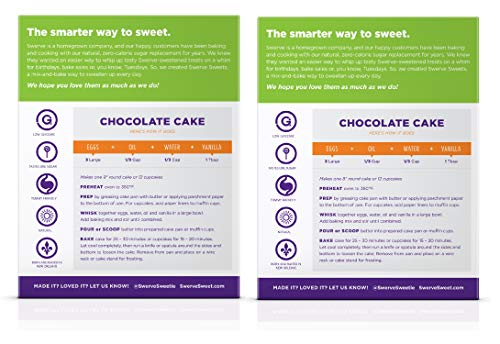 Swerve Sweets, Chocolate Cake Mix, 10.6 ounces (Pack of 2) 2