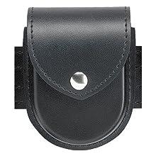 Safariland Duty Gear Chrome Snap Flap Top Double Handcuff Pouch (Basketweave Black)