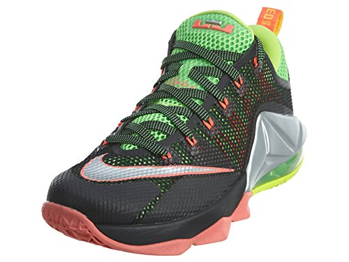 Nike Mens Lebron Xii Low Basketball Shoe Black/Silver/Green/Volt