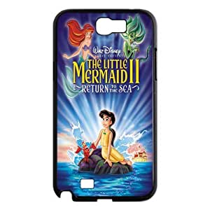 Christmas Hot Cartoon Movie The Little Mermaid Hard Plastic Back Protective Case for Samsung Galaxy Note2 N7100 FC-4