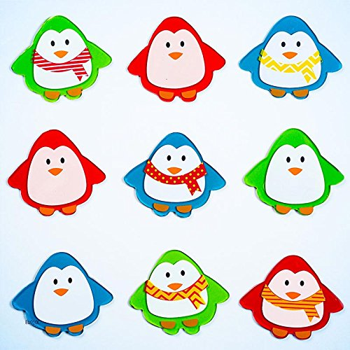Design Ideas GelGems Window Clings, Penguins, Large Bag
