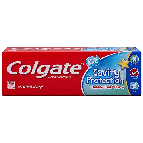 Colgate Kids Cavity Protection Fluoride Toothpaste, Bubble Fruit Flavor, Travel Size 0.85 oz (24g) - Pack of 12 by Colgate (Image #1)