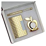 IN-INDIA In Indea Gold Plated(24K) Pen and Keychain With Card Holder in Gold Plated (Gold)