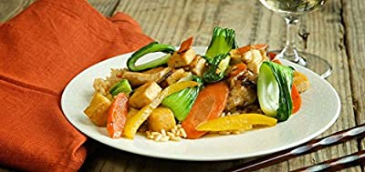 Stir-Fried Shiitake Mushrooms with Tofu, Baby Bok Choy and Brown Rice by Chef'd partner Vegetarian Times