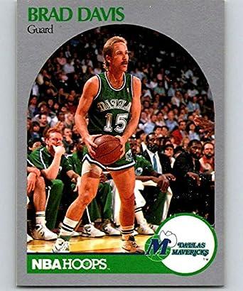 finest selection b154e 490d8 Amazon.com: 1990-91 Hoops Basketball #84 Brad Davis Dallas ...