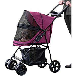 Pet Gear No-Zip Happy Trails Lite Pet Stroller for Cats/Dogs, Zipperless Entry, Easy Fold with Removable Liner, Storage Basket + Cup Holder 7