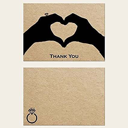 hand in marriage engagement thank you cards pack of 10 - Engagement Thank You Cards