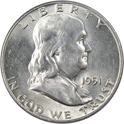 1951-D 50c Franklin Silver Half Dollar AU About Uncirculated ()