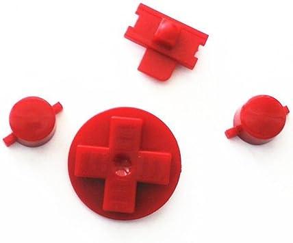 Rojo botones para Gameboy DMG-01 teclados una B botones con d ...
