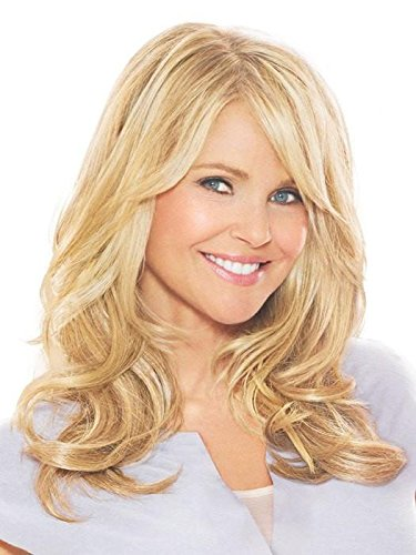 16 Clip On Hair Extensions Color HT56/60 Light Gray - Christie Brinkley Heat Resistant Wavy Curl Texture Excelle Synthetic Lightweight Fiber